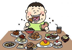 暴飲暴食、栄養の偏り