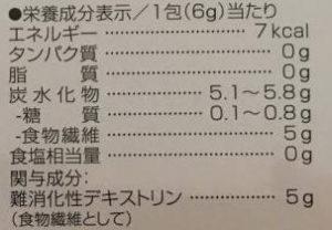 「賢者の食卓 ダブルサポート」成分表示